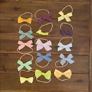 15 Little Poppy Nylon Bows